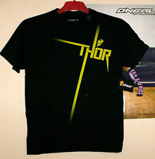 THOR Racing Anthem T-Shirt Tee Schwarz Freeride MX Cross M Acerbis Ufo Kawasaki
