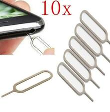 10pcs Sim Card Tray Remover Eject Ejector Pin Key Tools for iPhone 5S 4S 4G iPad