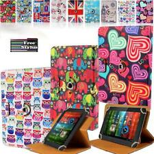 For Various Prestigio Muze Tablet Folio Rotating Stand Wallet Leather Cover Case