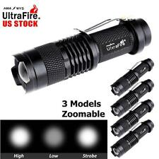 5x Ultrafire SK68 8000LM CREE Q5 LED Flashlight Zoomable Torch Police Light MT
