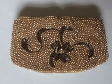 1940's Vintage Miranda All Beaded Pearls Evening Bag Purse Clutch Made in Japan
