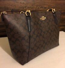 BNWT COACH Authentic F55064 F58318 AVA Signature Tote Handbag Purse Brown/Black