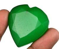 Green Emerald Loose Gemstone 214.85 Ct Natural Heart Shape Brazilian Super Sale