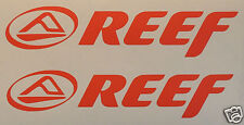 2 X REEF Stickers/Decals- Surfing/Watersports/ Skateboarding/Bmx