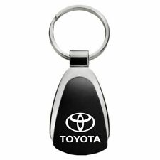 Toyota Key Ring Black and Chrome Teardrop Keychain