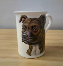 New The Leonardo Collection Staffordshire Bull Terrier Tea Cup Made In England