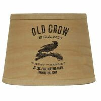 "Old Crow Tea Dyed 10"" Tapered Drum Washer Lampshade by Raghu"