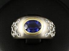 Wunderschöner Saphir Brillant Band Ring ca. 2,00ct Ringweite 49,5 750/- Weißgold