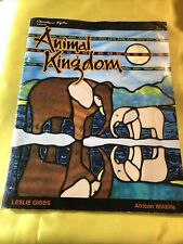 Animal Kingdom African Wildlife Stained Glass Pattern Book