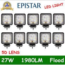 10X 9-LEDs 27W LED Flood Work Light Driving Working Fog OffRoad Lamp Jeep 5D LEN