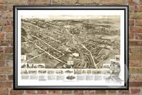 Old Map of Goshen, NY from 1922 - Vintage New York Art, Historic Decor