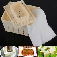 Tofu Maker Press Mold Kit + Cheese Cloth DIY Soy Pressing Mould Tool Kitche L0Z0
