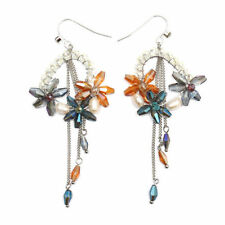 Handmade Glass Alloy Costume Earrings without Stone