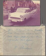 AUTO DE ÉPOCA COLOR FOTO Muñeco & 1959 OPEL OLYMPIA AUTOMOBILE notas 710252