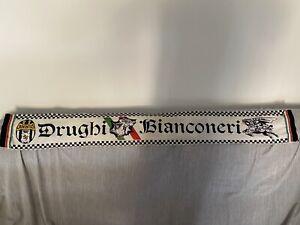 Rarissima sciarpa bufanda scarf vintage Drughi bianconeri JUVENTUS collezione