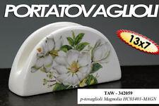 PORTA TOVAGLIOLI CUCINA IN CERAMICA 13*7 CM DECORO MAGNOLIA TAW-342059