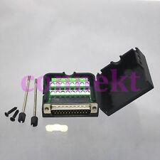 DB25 D-SUB male plug Connector 26line Terminal breakout Board Plastic Cover