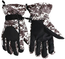 Men Windproof Winter Warm Camo Print Ski Snow Snowboard Waterproof Gloves