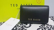 NEW TED BAKER BLACK MANZINI SMALL FLAP OVER LEATHER PURSE**FREE GIFT BAG**