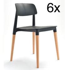 6er Set Stühle Design Retro Stuhl Esszimmerstuhl Bürostuhl Küchenstuhl Stapelbar