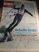 Hamburger Abendblatt Olympia Magazin 3. Februar 1968 De Gaulles Erhard Keller