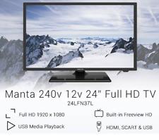 """24"""" 12V TV LED FREEVIEW FULL HD Car CARAVAN HGV Motorhome USB HDMI 12 Volt Lead"""