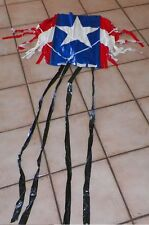 Vintage Hi-Flier Sled Style American Red White And Blue Star Kite