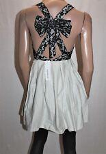 SHAREEN Brand Black Lace Bow Cross Back Dress Size 8 BNWT #TK10