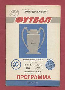 Orig.PRG   EC 1  86/87   DINAMO KIEW - FC PORTO  1/2 FINALE  !!  SEHR SELTEN