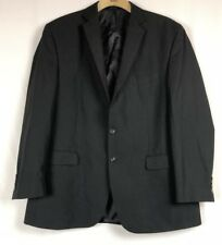 Izod Suit Separates Men's Black Two Button Blazer Jacket Fully Lined Sz 48L