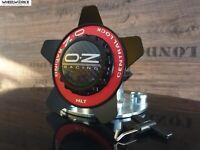 Original OZ Felgendeckel Centerlock schwarz rot 62 mm Formula HLT NEU!