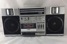 VTG Boom Box Sanyo M9825 AM/FM EQ Cassette Tape Player Recorder Ghetto Blaster