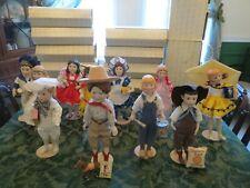 11 Franklin Heirloom Advertising Mascot Porcelain Dolls 1980's