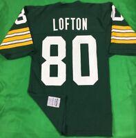 VTG 80's Green Bay Packers James Lofton NFL Jersey Men's SZ M Green Pro Cut EUC