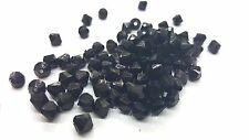 25g - 6mm Black Acrylic Faceted Bicone Beads - A5308