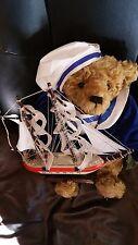 """Owassa Mohair Jointed 14"""" Bear with sailboat by Jenny Krantz"""