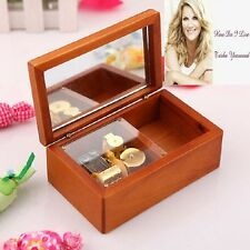 Rectangle jewelry Wood Wind Up  Music Box : How Do I Live Without You
