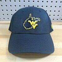 New Era West Virginia Mountaineers Navy College 39Thirty Flex Hat WVU Cap M/L