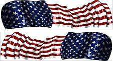 "America Flag Boat Car Truck Graphics RV Kart  Stickers Racing Decals 2- 50"" Wrap"
