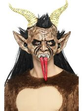 Demon Beast Mask Deluxe Krampus Latex Overhead Fancy Dress Accessory