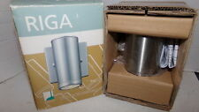 New Riga Eglo 302587 Stainless Steel Outdoor Wall Light Ships Free!