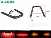 For Moto Cafe Racer Rear Seat Frame Hoop Loop End LED Brake Turn Signal Light