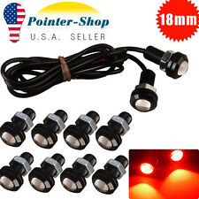 10X Pure Red Car Motor 18MM Eagle Eye 9W LED Fog  Reverse Backup DRL  Light
