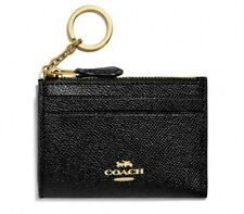 NWT Coach Mini Skinny ID Case Black F88250