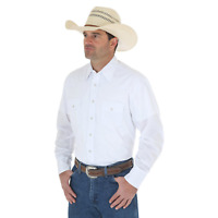 WRANGLER ~ Men's ~ WHITE ~ Sport Western Shirts