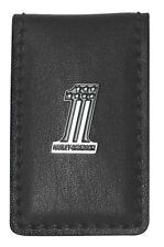 Harley-Davidson Men's One Medallion Magnetic Money Clip, Black CR2381L-BLACK