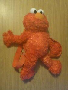 "Sesame Street Elmo 15"" Plush Zip Close Adjustable Backpack/Bag"