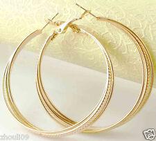 HOT New 9k Gold Filled Fashion Stylish Lady Ear Stud Hoop Earring 474