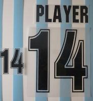 Set Flock Nameset home Trikot jersey shirt Argentinien Argentina 1999 - 2001