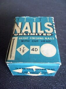 Vintage 1950s Wilmod Co. Nails Unlimited Bright Finish Nails - Made in Japan